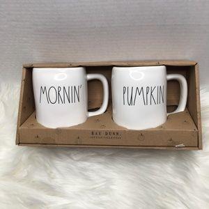 Rae Dunn Mornin Pumpkin cup ser NWT
